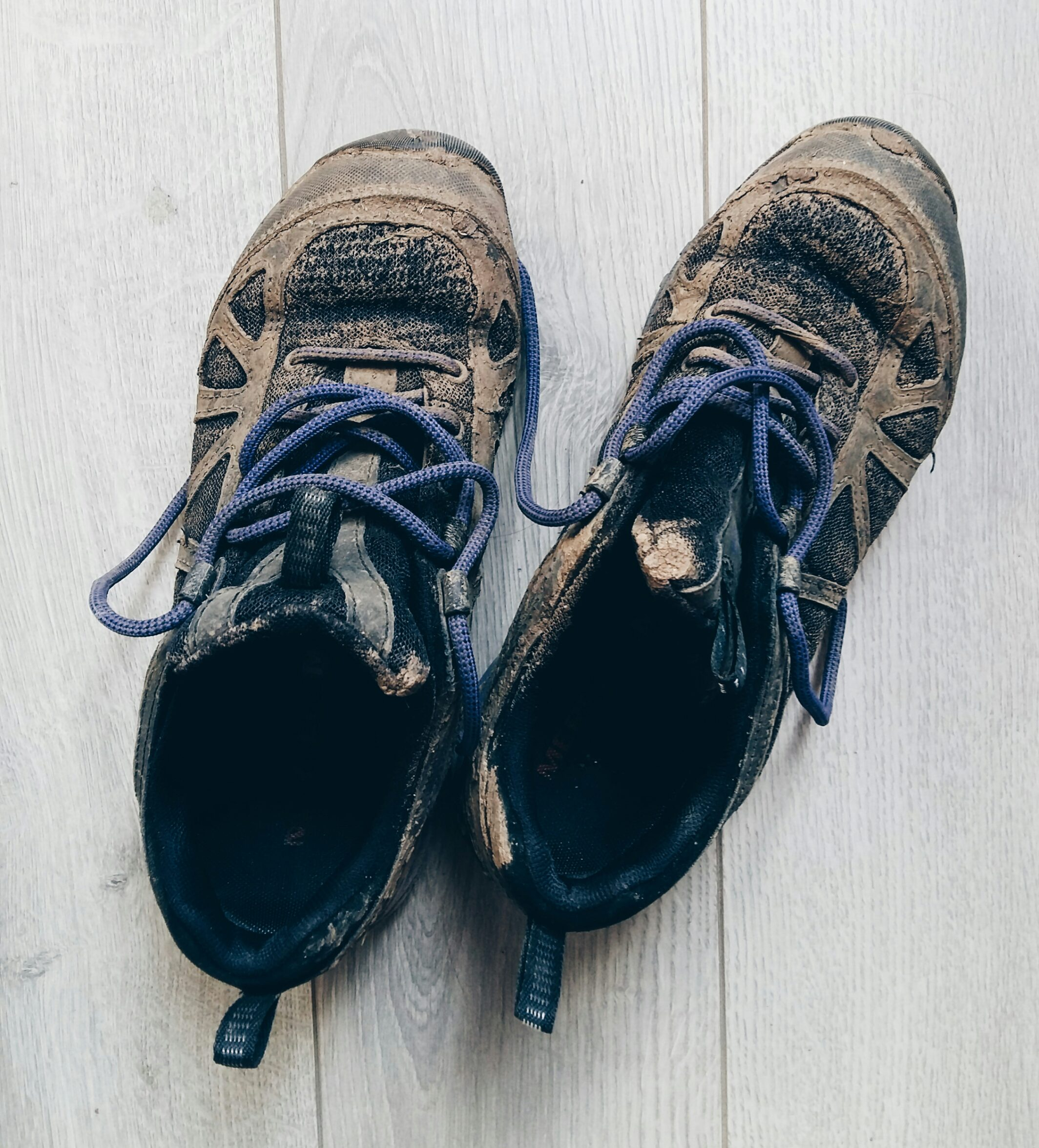 Clean your hiking and trail running shoes