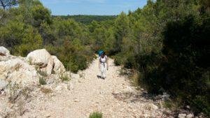 Montpellier à Montarnaud GR653 Compostelle
