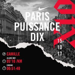 10km Paris Centre Paris puissance dix