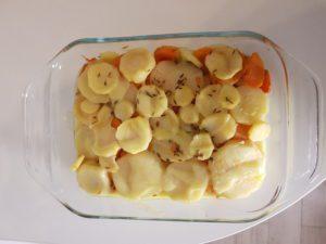 Gratin de patate douce et panais