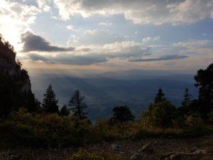 Randonnée Parmelan proche Annecy - photo montagne coucher de soleil