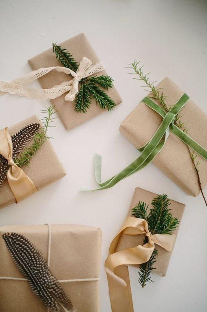 cadeaux écolo - Noël éco-responsable - decoration-papier-cadeau-kraft