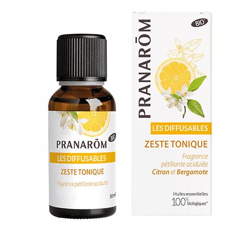 Pranarôm huiles essentielles anti-stress-Bio - Diffusion - Zeste-tonique