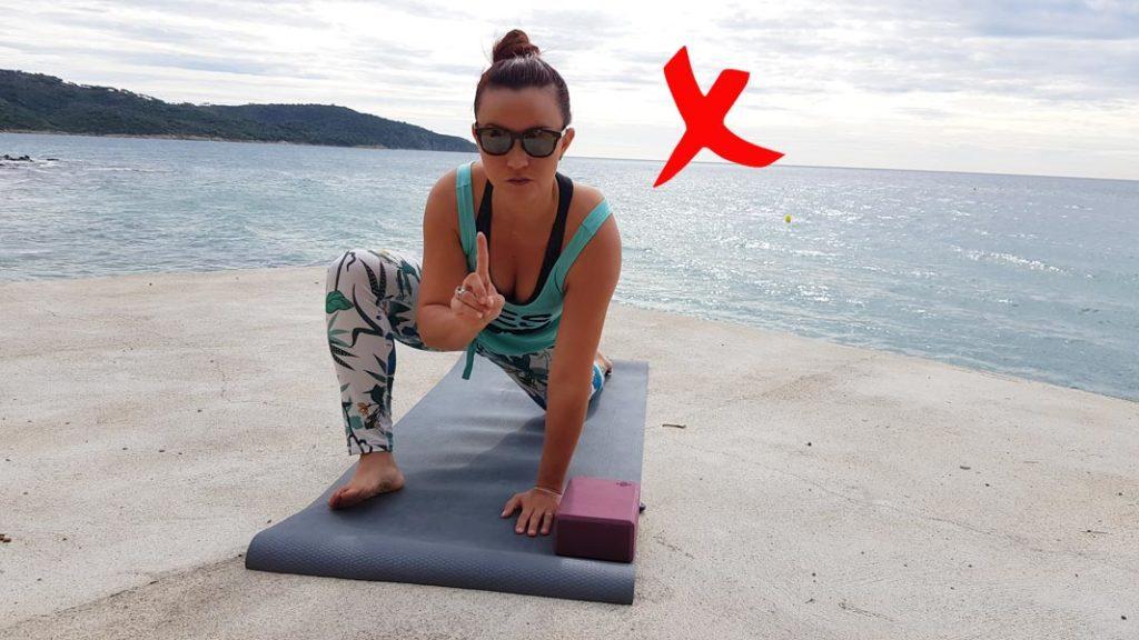 Étirements en course à pied -yoga lezard